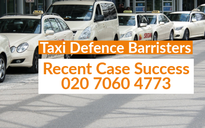 Green badge cab driver back on the road after representation from Taxi Defence Barristers